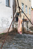 Traditional pig slaughtering carnival with selected delicacies Stock Images