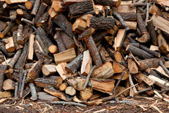 Traditional pile of chopped fire woow Stock Photo