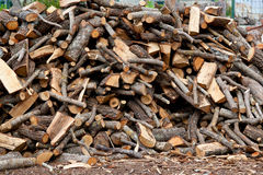 Traditional pile of chopped fire woow Royalty Free Stock Photo