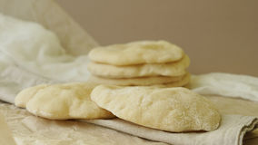 Traditional pita bread made at home Stock Photo