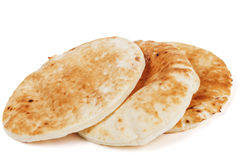 Traditional Pita on White Stock Images