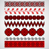Traditional pixel seamless ornaments embroidery Royalty Free Stock Images