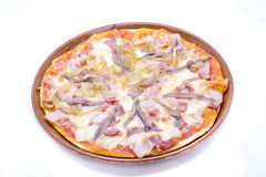 Pizza anchovies Royalty Free Stock Image
