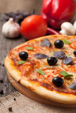 Traditional pizza margherita Stock Photography