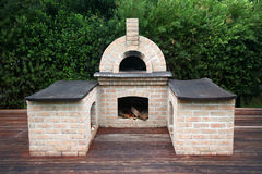 Traditional pizza oven Stock Images