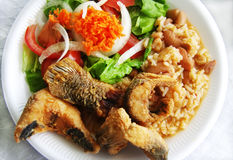 Traditional plate of river fish Stock Photography