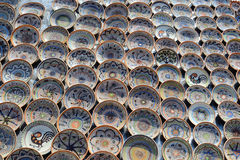 Traditional Plates. Traditional Romanian Plates Exposed For Sale Royalty Free Stock Photos