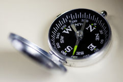 Traditional Pocket Compass Royalty Free Stock Images