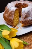 Babka sand cake Easter Polish bakery Royalty Free Stock Image