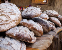 Traditional Polish bread. Delicious floury polish bread. Traditional baked Royalty Free Stock Images
