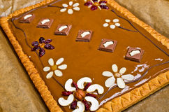 Traditional polish butterscotch cake Stock Images