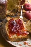 Traditional Polish Cake with apple marmelade Stock Photography