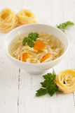 Traditional Polish Chicken Broth Stock Photos