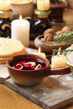 Traditional polish christmas dish beetroot soup Stock Image