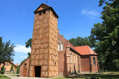 Traditional Polish church. Royalty Free Stock Images