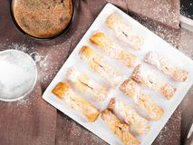 Traditional Polish cookies served at Fat Thursday Royalty Free Stock Photos