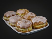 Traditional Polish donuts Stock Images