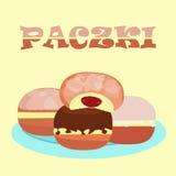 Traditional polish doughnut praczki Royalty Free Stock Images