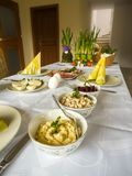 Traditional Polish Easter table Royalty Free Stock Photography