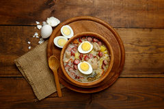 Traditional polish Easter soup Zurek Royalty Free Stock Photography