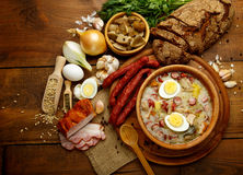 Traditional polish Easter soup Zurek Royalty Free Stock Photo