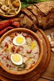 Traditional polish Easter soup Zurek Royalty Free Stock Image