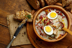 Traditional polish Easter soup Zurek Stock Images