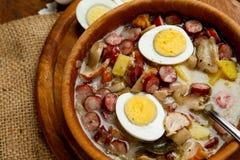 Traditional polish Easter soup Zurek Stock Photos