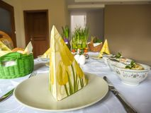 Traditional Polish Easter table Royalty Free Stock Images