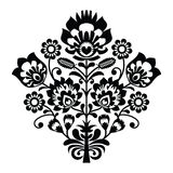 Traditional polish folk pattern in black and white Royalty Free Stock Image