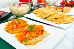Traditional Polish food for Christmas Eve Royalty Free Stock Photography