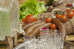 Traditional Polish food on wedding table Stock Photo