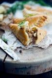 Traditional polish fried pierogi Royalty Free Stock Image