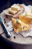 Traditional polish fried pierogi Stock Photography