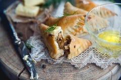 Traditional polish fried pierogi Royalty Free Stock Photos