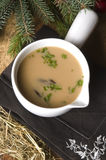 Traditional polish mushroom soup with cream Royalty Free Stock Image