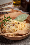 Traditional polish peas with cabbage. Stock Photography