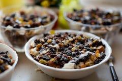 Traditional polish poppy seeds dessert Stock Photography