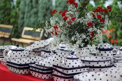 Traditional polish pottery Royalty Free Stock Images