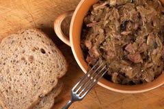 Traditional polish sauerkraut. Stock Photo