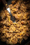 Traditional polish sauerkraut (bigos) with mushrooms and meat. Royalty Free Stock Photo