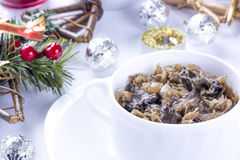Traditional polish sauerkraut with mushrooms Stock Photography