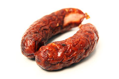 Traditional Polish sausage Royalty Free Stock Photography