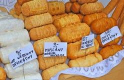 Traditional Polish smoked cheese known as oscypek, Zakopane,Poland Stock Photo