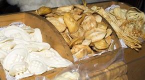 Traditional polish smoked cheese oscypek Stock Photos