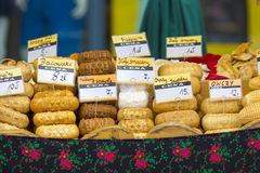 Traditional polish smoked cheese oscypek in Zakopane Stock Photography