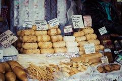 Traditional polish smoked cheese oscypek in Zakopane Royalty Free Stock Images