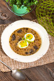 Traditional Polish soup. Stock Photos