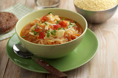 Traditional Polish soup kapusnyak Royalty Free Stock Photo