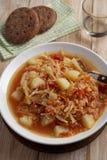 Traditional Polish soup kapusnyak Stock Photo